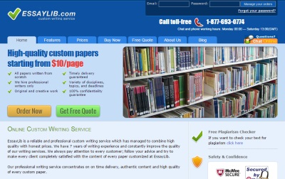 essaylib.com discount Essaylibcom appears to be one of the best essay writing services our reviewers ordered one paper and were satisfied with the result read more in our review.