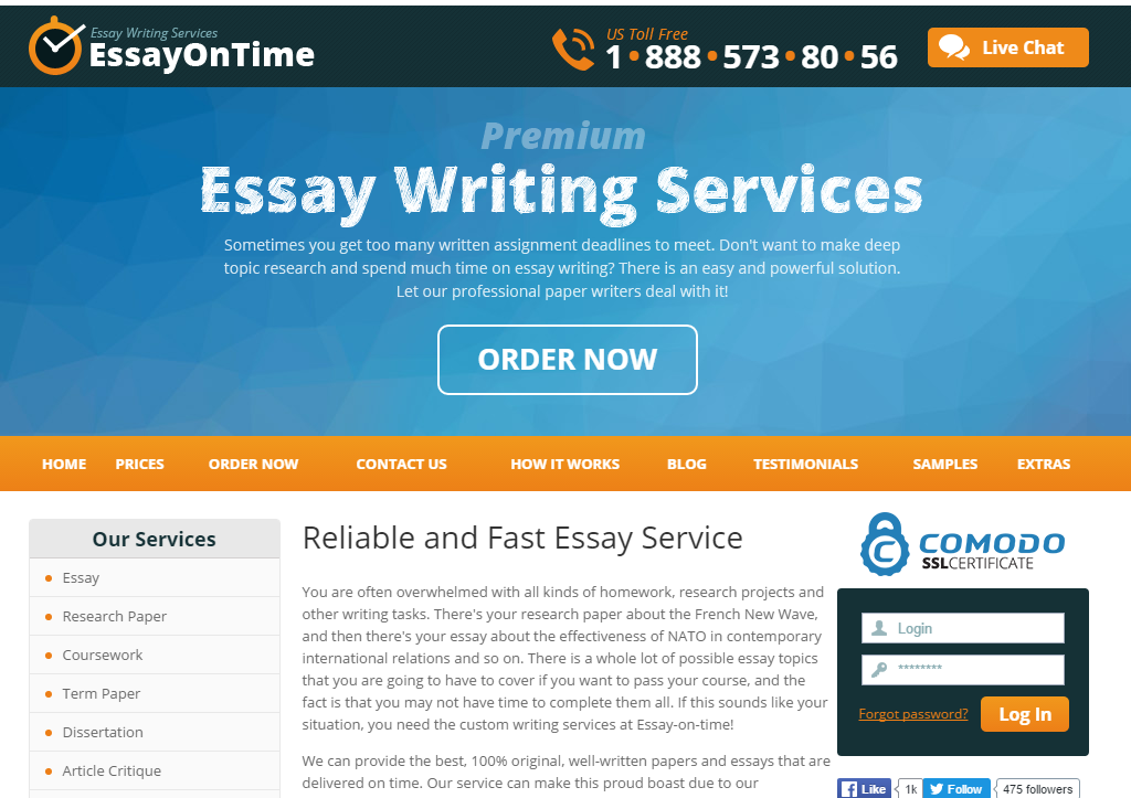 Essay time services