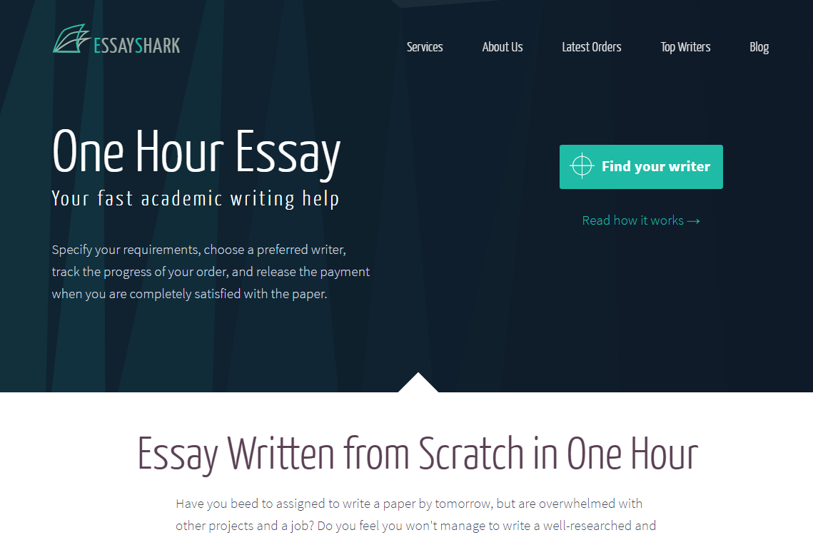 One-Hour-Essay.EssayShark.com Review