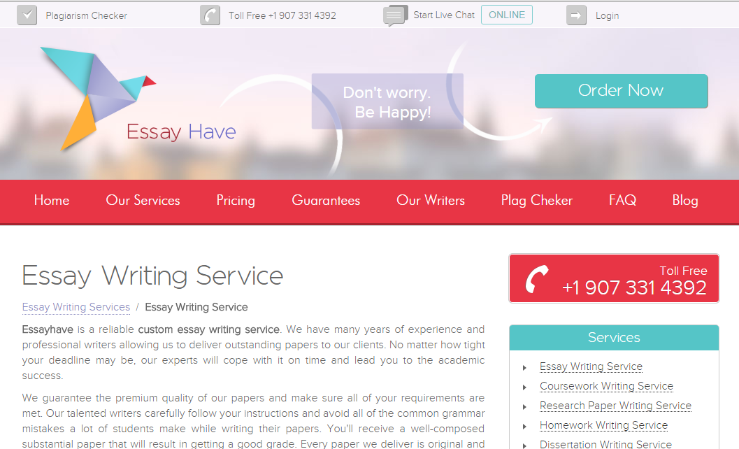 WritingService.EssayHave.com Review